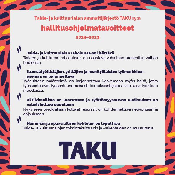 TAKUn hallitusohjelmatavoitteet web_kansi_some