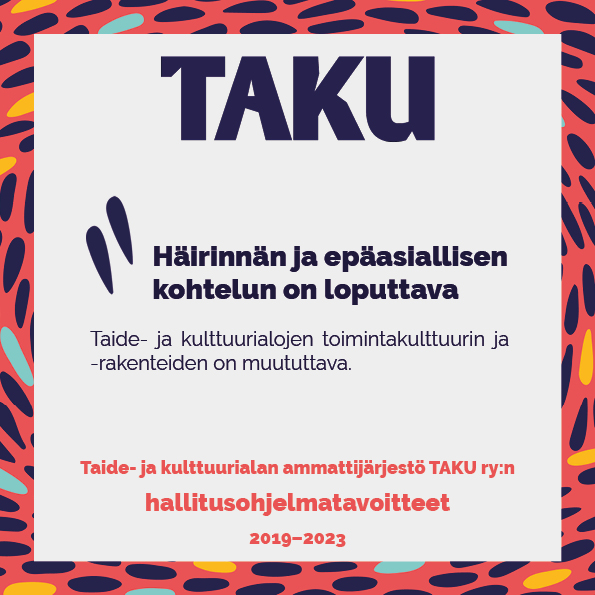 TAKUn hallitusohjelmatavoitteet_häirintä_some