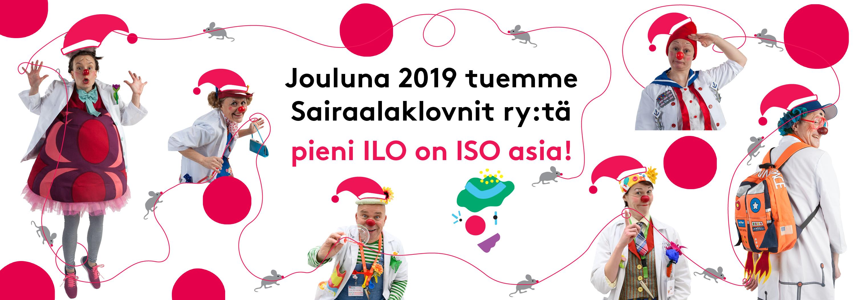 Sairaalaklovnit joulu 2019 banneri