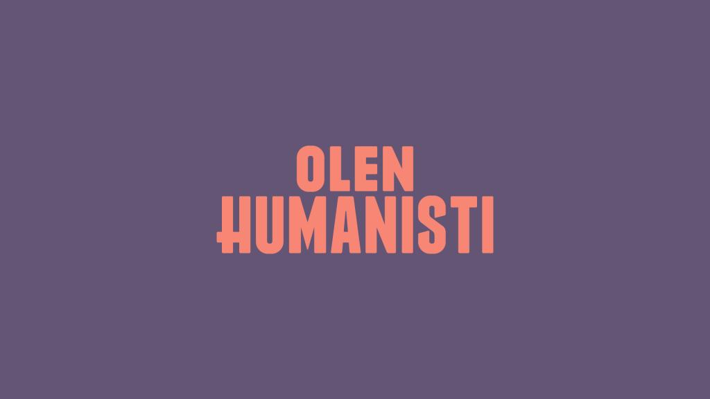 Olen humanisti: banneri